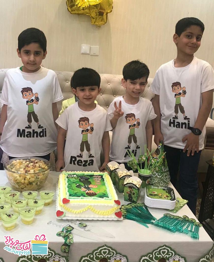 جشن تولد با تم سبز رنگ رضا